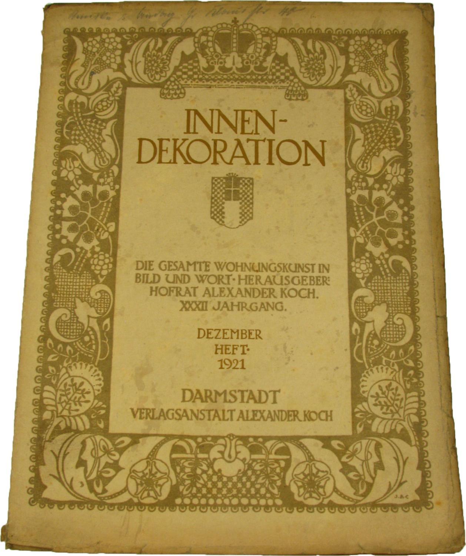 Innen dekoration die gesamte zvab for Innendekoration 1921