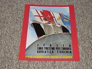 Werbedruck / Werbeblatt / Reklame Italia Linee