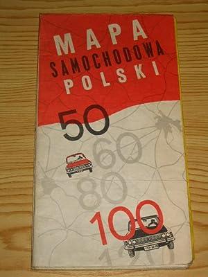 Mapa Samochodowa Polski - Automobilkarte Polen,