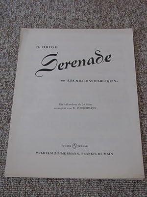 Serenade aus Les Millions D`Arlequin,: Drigo, R.:
