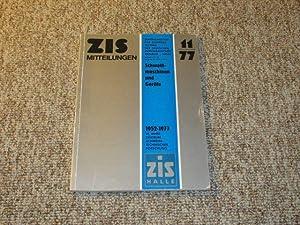 ZIS-Mitteilungen Heft Nr. 11/1977 (Schweißmaschinen und Geräte),