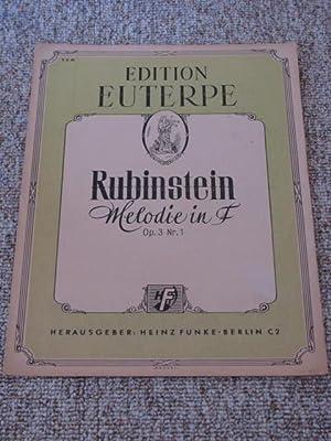 Melodie in F. Op. 3. Nr. 1,: Rubinstein, Anton: