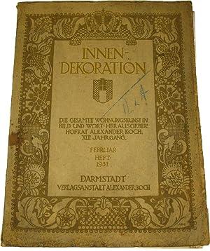 Innen dekoration die gesamte wohnungskunst in bild und for Innendekoration die gesamte wohnungskunst in bild und wort