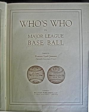 Who's Who in Major League Baseball: Harold Johnson [compiler]