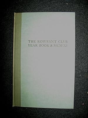 The Rowfant Club Year Book 1910: Rowfant Club