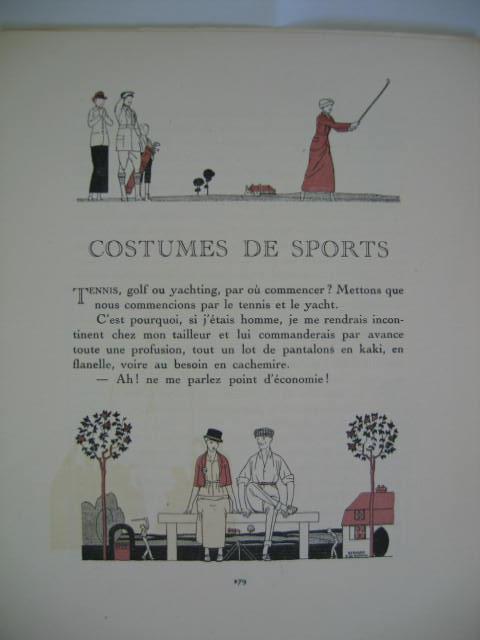Mode. Fashon. Costumes De Sports. Fünf Textblätter