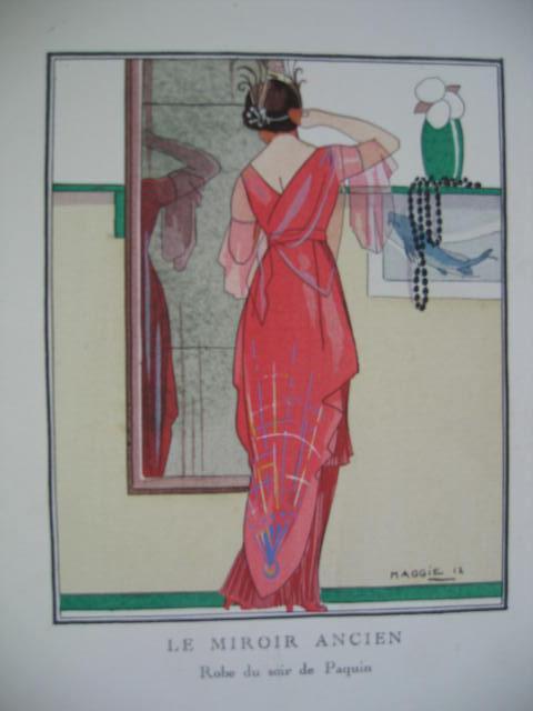 Mode. Fashon. Le Miroir Ancien. Robe du