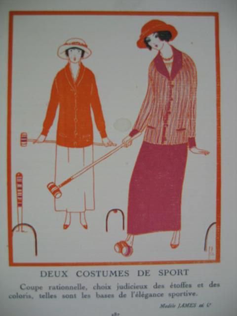 Mode. Fashon. Deux Costumes De Sport. Orig.