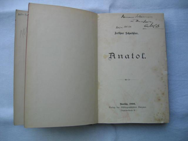 Anatol. Daran: Sterben. Novelle.: Schnitzler, Arthur