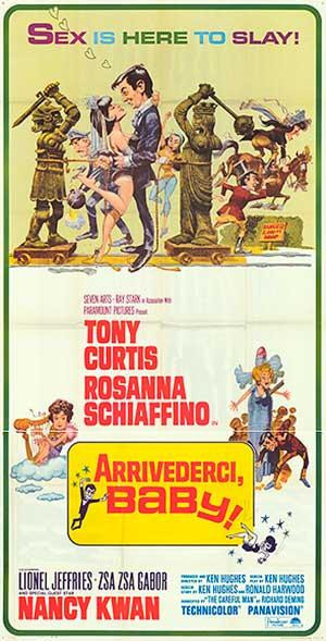 """Arrivederci Baby - Authentic Original 41"""""""" x 81"""""""" Folded Movie Poster"""