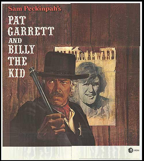 """Pat Garrett and Billy the Kid - Authentic Original 81"""""""" x 81"""""""" Folded Movie Poster"""