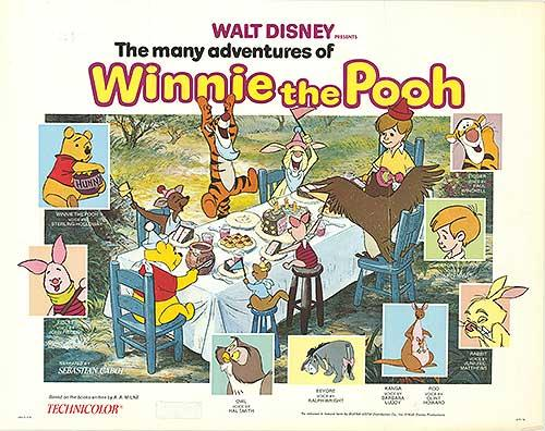 "Many Adventures of Winnie the Pooh - Authentic Original 28"" x 22 ..."