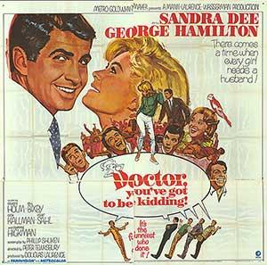 """Doctor You've Got to be Kidding - Authentic Original 81"""""""" x 81"""""""" Folded Movie Poster"""