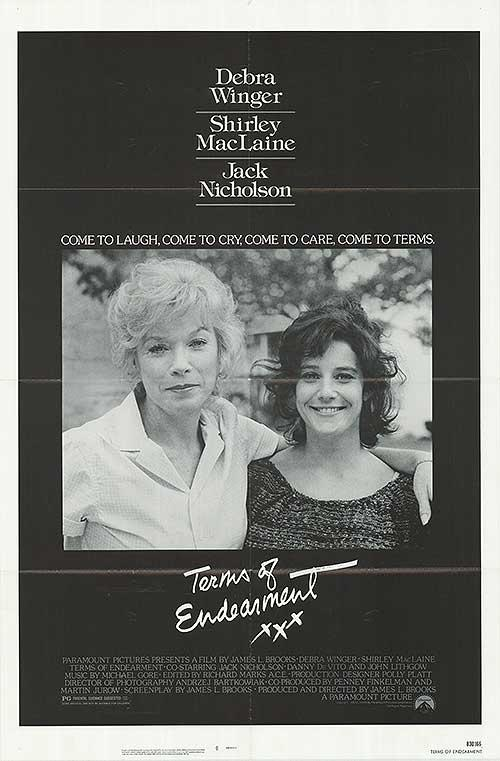 Terms of Endearment - Authentic Original 27  x 41  Folded Movie Poster original; creases; folded; Mint Unless Mentioned In Description