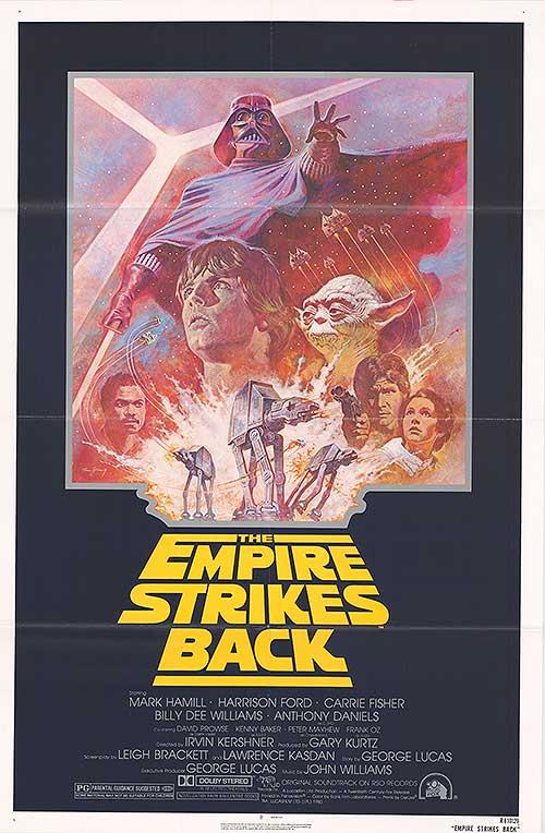 Star Wars Episode V The Empire Strikes Back Authentic Original 27 X 41 Folded Movie Poster 1980 Art Nbsp Nbsp Print Nbsp Nbsp Poster Movie Poster Warehouse