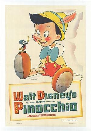 """Pinocchio - Authentic Original 31"""" x 44.5"""""""
