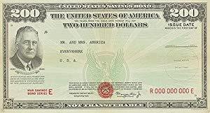 War Bond - 200 Check - Mr. And Mrs. America - Authentic Original 26