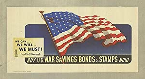 War Bond - We can we will we must! - Authentic Original 20.5