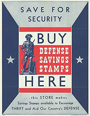 War Bond - Save for Security - Authentic Original 22