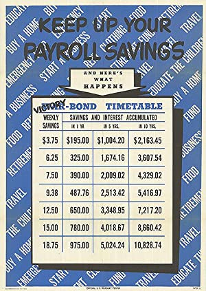 War Bond - Keep up your payroll savings - Authentic Original 18.5