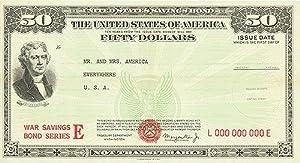 "War Bond - 50 Check - Mr. And Mrs. America - Authentic Original 26"" x 14"" Folded Movie ..."