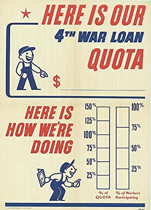 War Loan - Here is our quota - Authentic Original 20