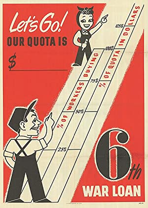 War Bond - Let's Go! Our quota is - Authentic Original 20