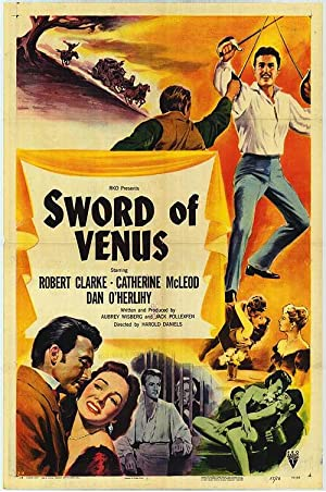 """Sword Of Venus - Authentic Original 27"""" x 41"""" Folded Movie Poster"""