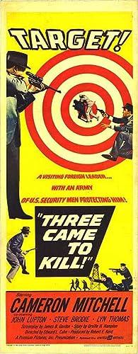 "Three Came To Kill - Authentic Original 14"" x 36"" Movie Poster"