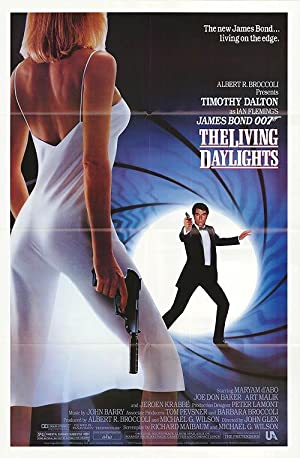"""Living Daylights - Authentic Original 27"""" x 40"""" Folded Movie Poster"""