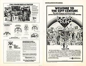 """Logan's Run - Authentic Original 17"""" x"""