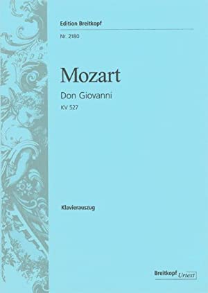 dt//it Oper von W.A Mozart Don Giovanni KV 527 Klavierauszug