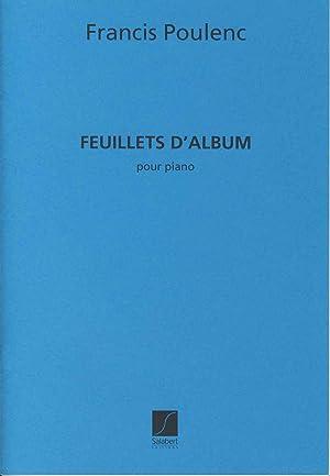 POULENC - Hojas de Album (Feuillets d: POULENC