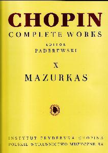 CHOPIN - Mazurkas Completas para Piano (Paderewski): CHOPIN
