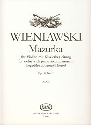 WIENIAWSKI - Mazurka Op.19 nº 2 para: WIENIAWSKI