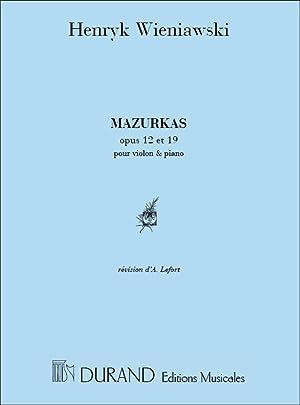 WIENIAWSKI - Mazurkas (4) Op.12 y Op.19: WIENIAWSKI