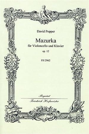 POPPER - Mazurka Op.12 para Violoncello y: POPPER