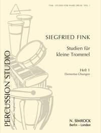 FINK S. - Studies for Snare Drum: FINK S.