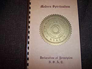 Declaration of Principles N.S.A.C.: Rev. Converse E. Nickerson