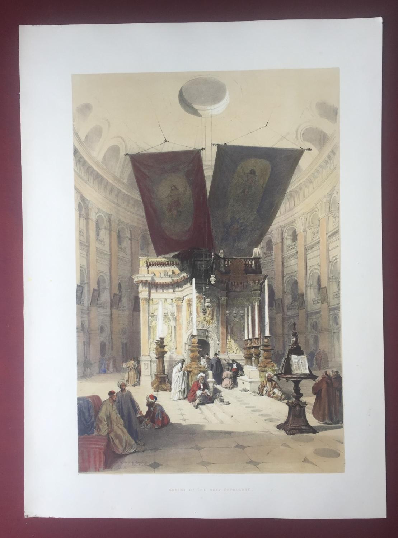 THE SHRINE OF THE HOLY SEPULCHRE (Jerusalem) JERUSALEM - DAVID ROBERTS - Original Antique Lithograph