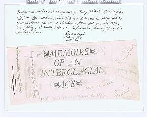 """Memoirs of an Interglacial Age [""""Beat"""" Artist Robert LaVigne's Copy ]: Whalen, ..."""