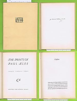 The Prints of Paul Klee [ First: Klee, Paul ;