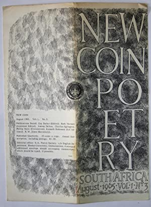 New Coin Poetry: Vol 1, No 3, August 1965