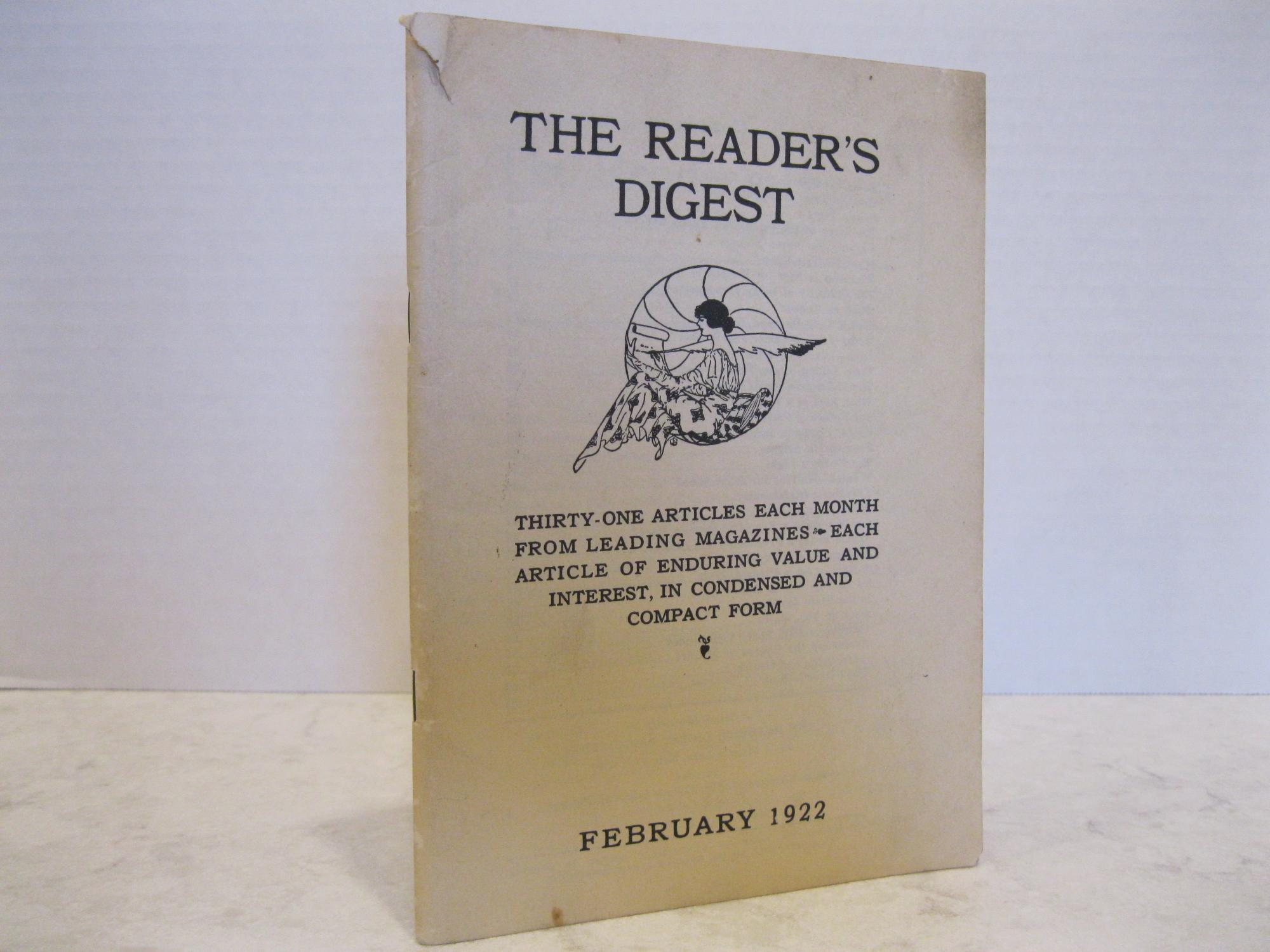 THE_READERS_DIGEST_VOLUME_1_NUMBER_1_ACHESON_LILA_BELL_Preface_Very_Good_Softcover