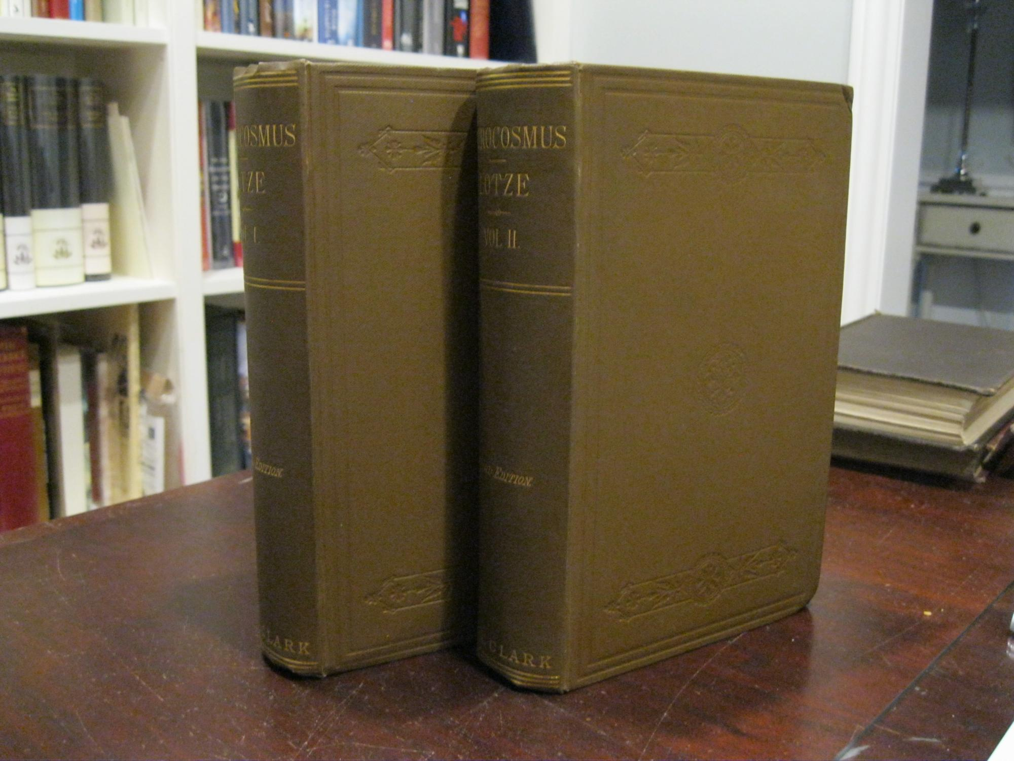 MICROCOSMUS_AN_ESSAY_CONCERNING_MAN_AND_HIS_RELATION_TO_THE_WORLD_TWO_VOLUMES_LOTZE_HERMANN_Very_Good_Hardcover