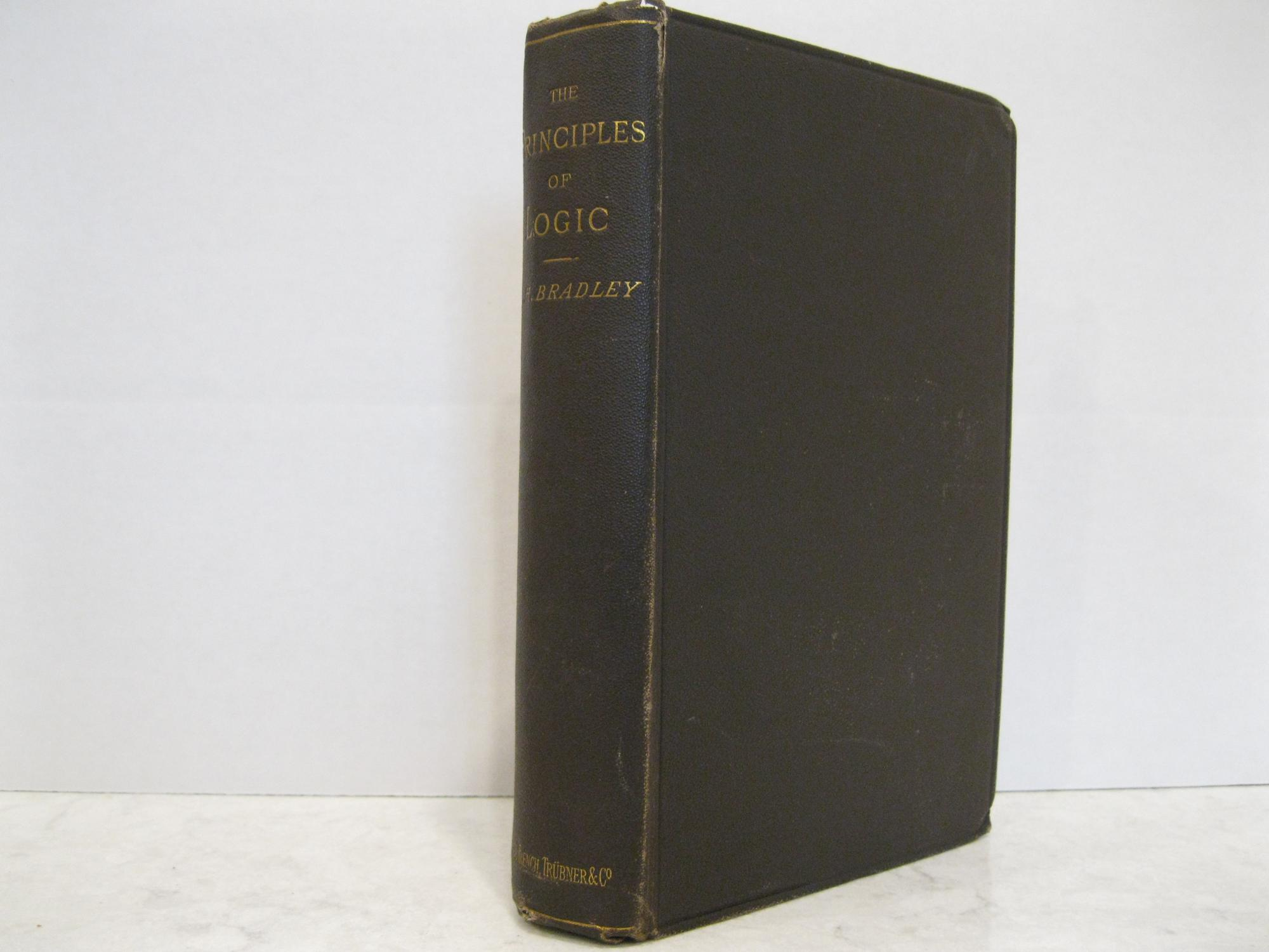 THE_PRINCIPLES_OF_LOGIC_BRADLEY_FH_Very_Good_Hardcover