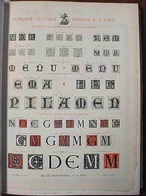 SpŽcimen-album de la Fonderie Gve Mayeur, Allainguillaume: Typography]. Mayeur, Allainguillaume