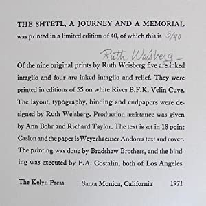The Shtetl, a Journey and a Memorial: Weisberg, Ruth