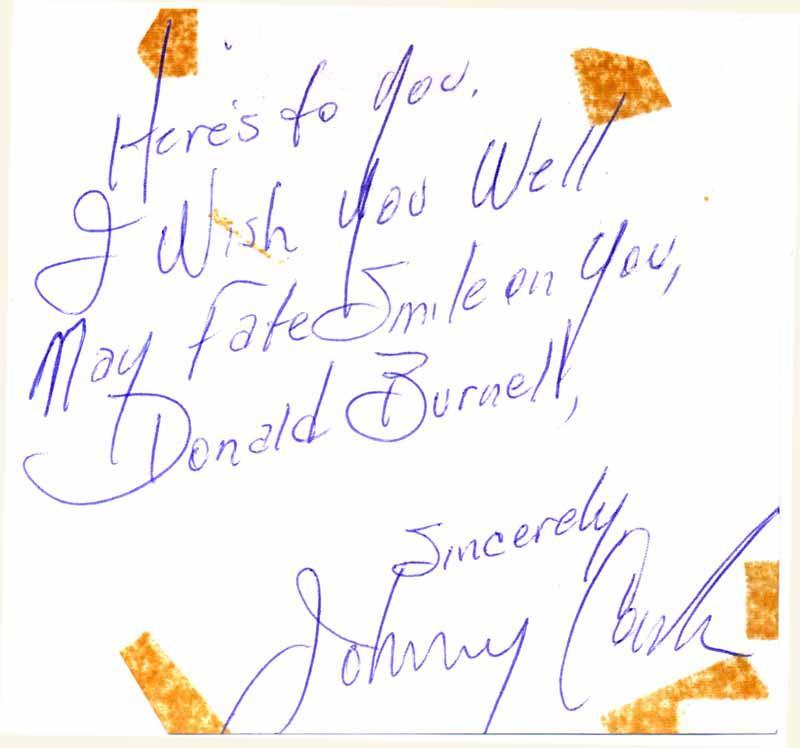 Autograph Quotation Signed / Unsigned Photograph: CASH, Johnny (1932-2003)