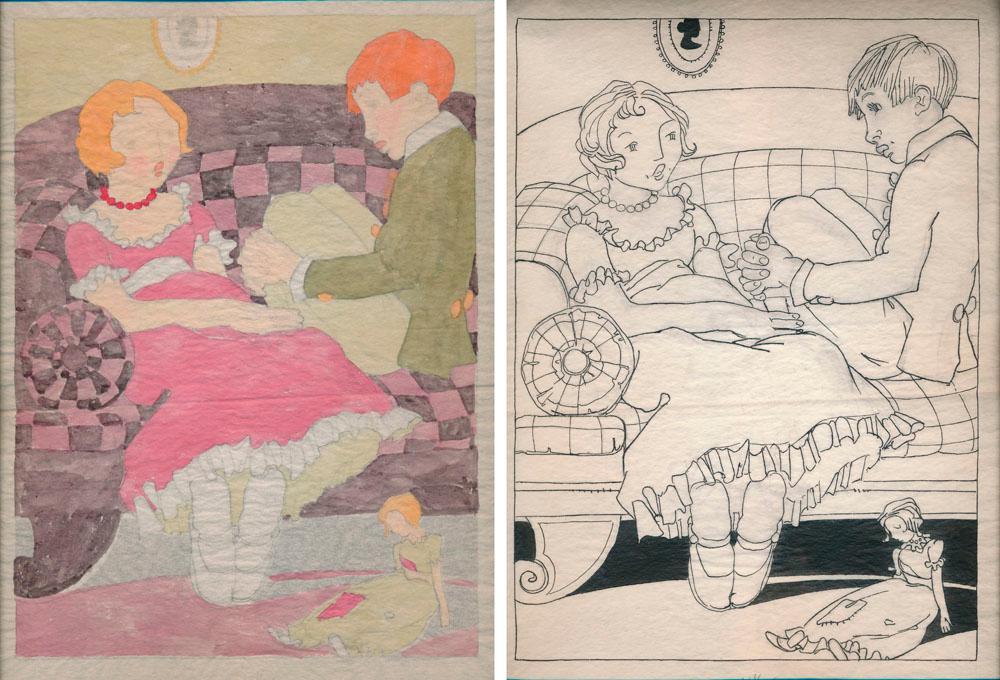 Original Book Illustration Art: BROCK, Emma L. (1886-1974)